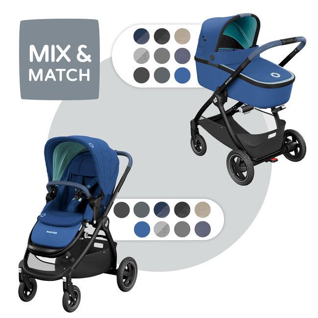 Maxi-Cosi Adorra met Oria reiswieg - Essential Blue