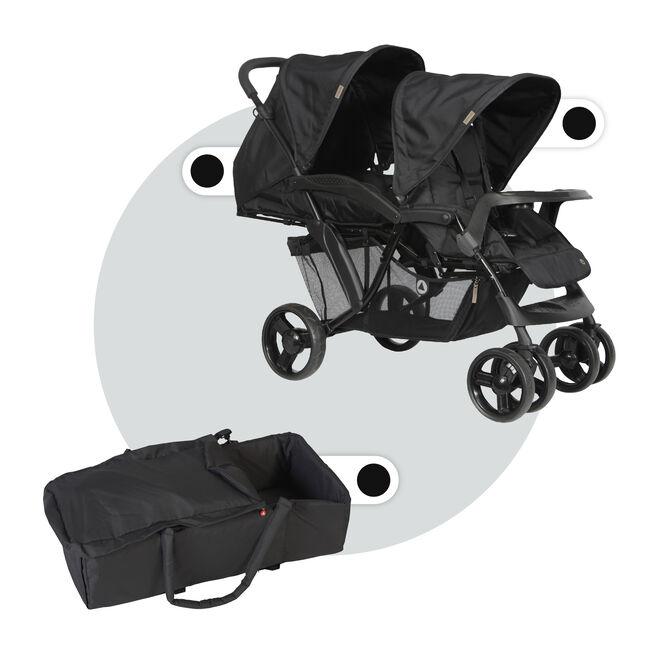Topmark Duo Tandem Riley compleet - Black