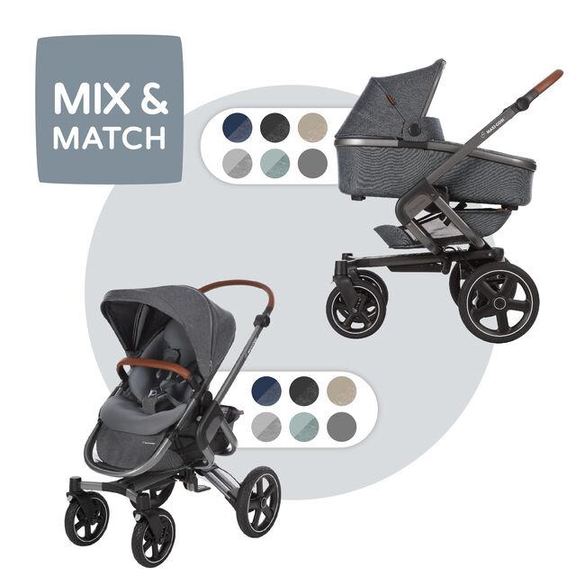 Maxi-Cosi Nova met Oria reiswieg - Sparkling Grey