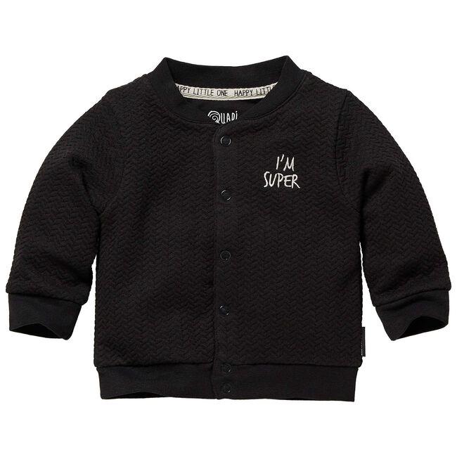 Quapi baby jongens vest - Darkgrey