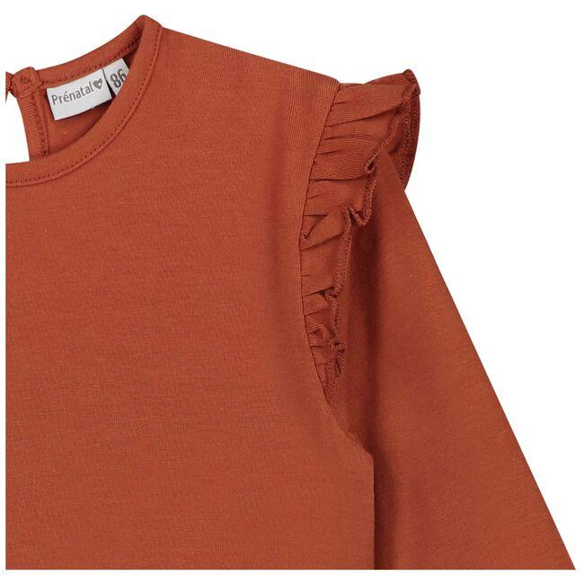 Prénatal baby meisjes T-shirt - Dark Orange Brown
