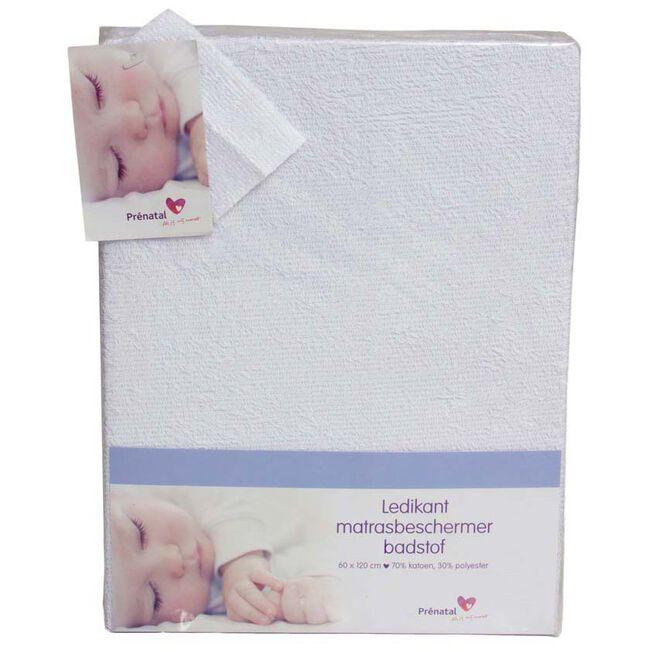 Prenatal badstof matrasbeschermer ledikant - White