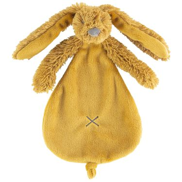 Happy Horse Rabbit Richie knuffeldoekje - Spice Yellow