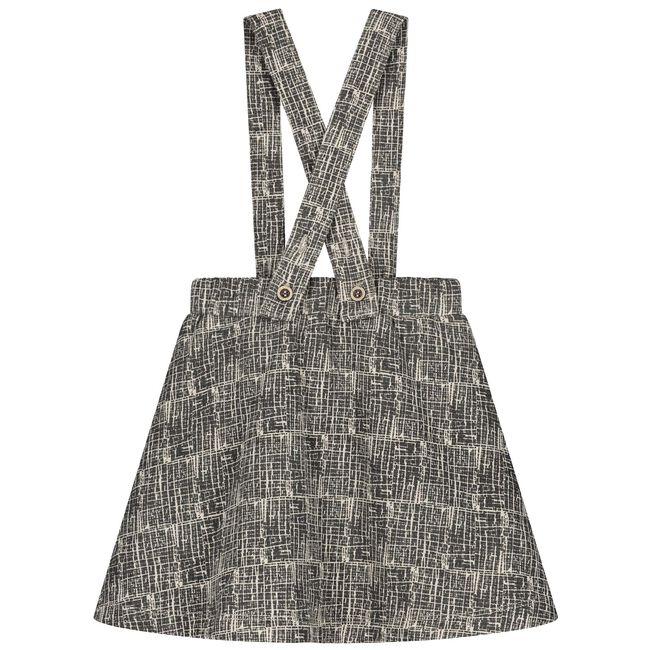 Sweet petit peuter meisjes jurk Milou - Black/Brown