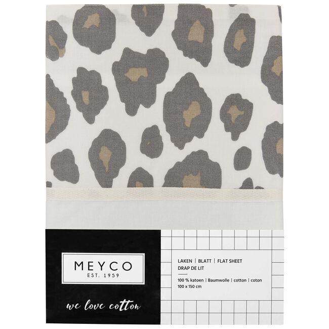 Meyco ledikantlaken panter - Beigebrown