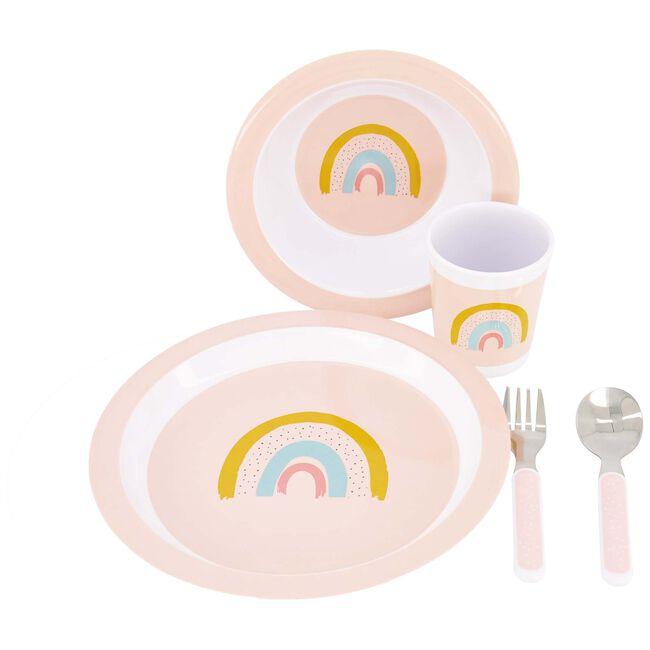 Prénatal eetset rainbow - Light Pink