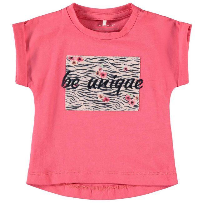 Name it baby meisjes T-shirt - Dark Pink