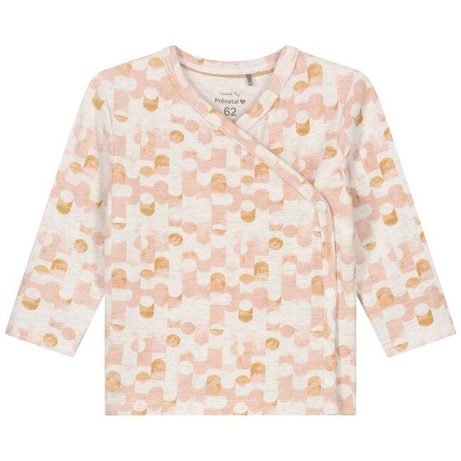 Prenatal newborn meisjes overslag shirtje - Powder Pink