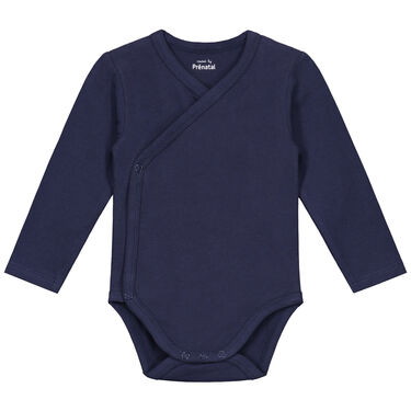 029fb09a112e12 Prenatal basis overslag romper - Navy Blue