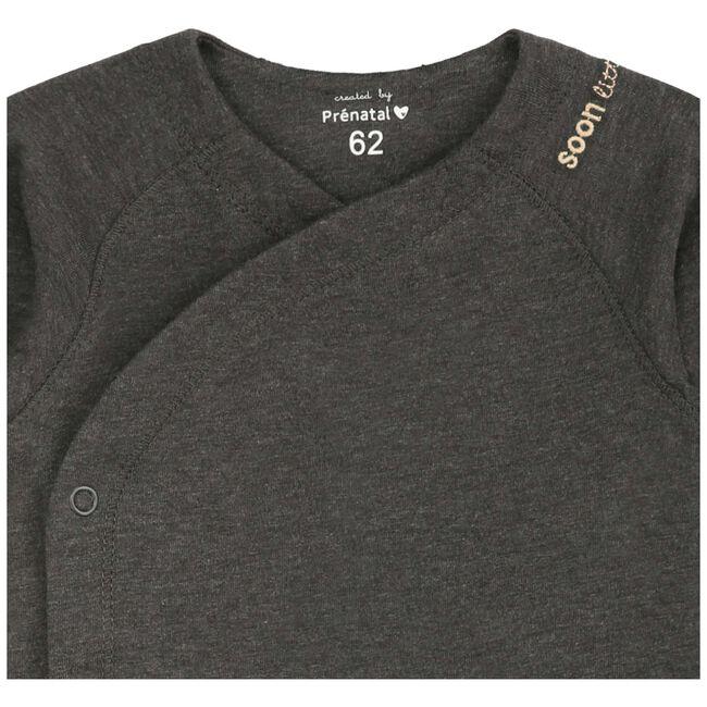 Prénatal newborn overslagshirt - Deep Grey Melange