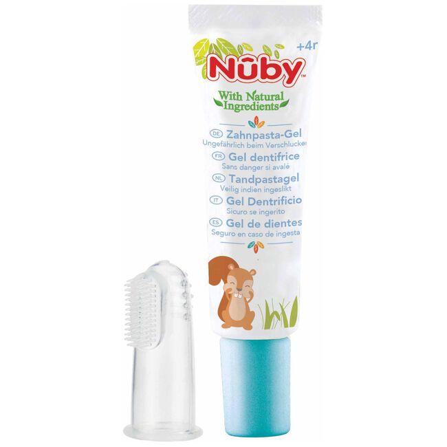 Nuby Tandreinigingsgel 20gr + vingertandenborstel 4+ maanden -