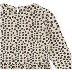 Prénatal baby meisjes jurk - Light Brown Melange