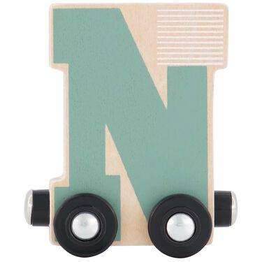 Prenatal houten namentrein letter N -
