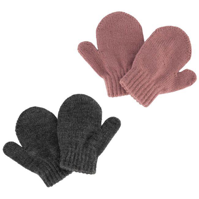 Prénatal baby meisjes 2pack wanten - Pinkshade