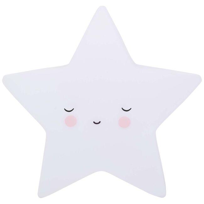A Little Lovely Company nachtlampje ster - White