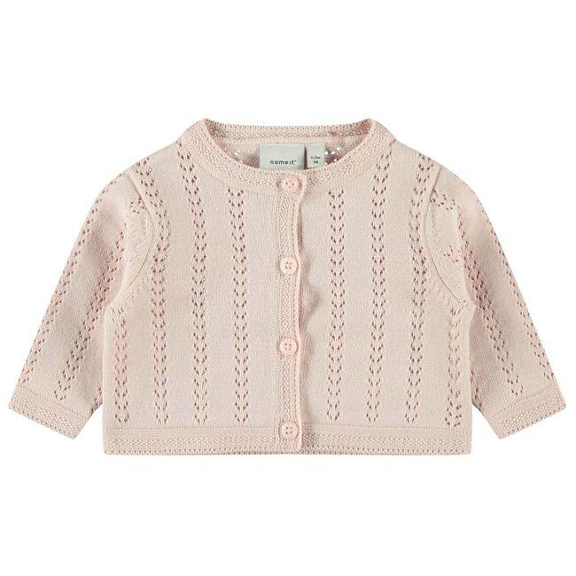 Name it baby meisjes vest - Light Pink