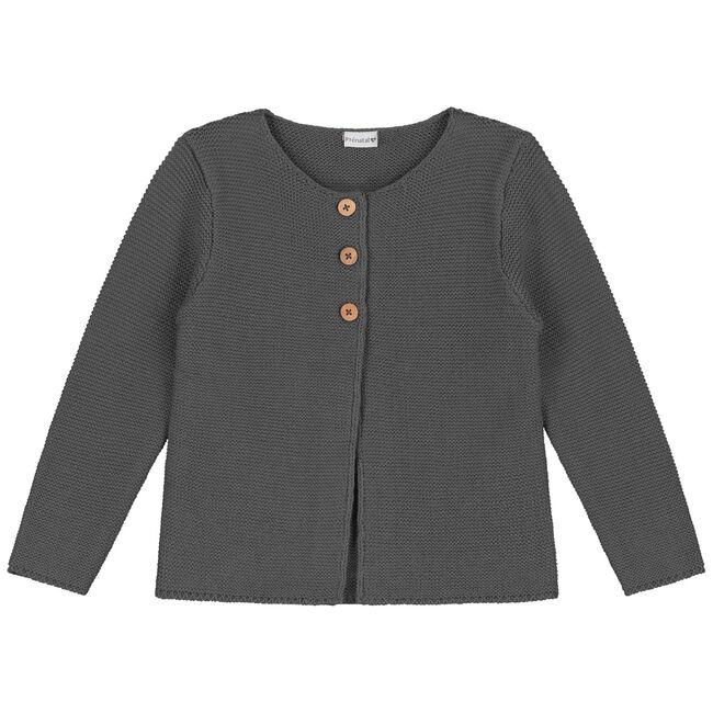 Prenatal peuter meisjes vest - Dark Graphite Grey
