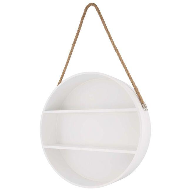 Prenatal ronde wandplank wit - White