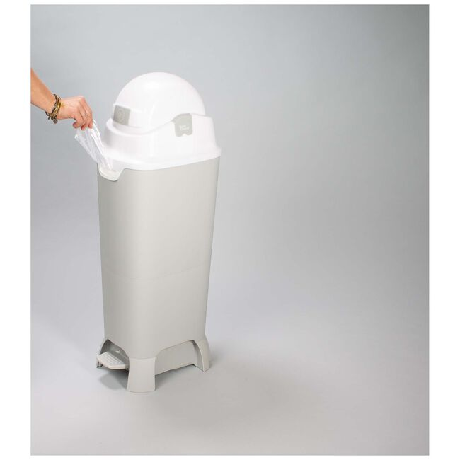 Diaper Champ maxi handsfree luieremmer - Lightgrey