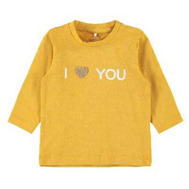 Name it baby meisjes T-shirt - Spice Yellow