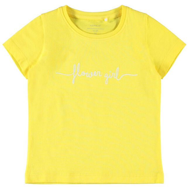 Name it peuter meisjes T-shirt - Yellow