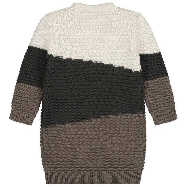 Sweet petit peuter meisjes jurk Thirza - Black/Brown