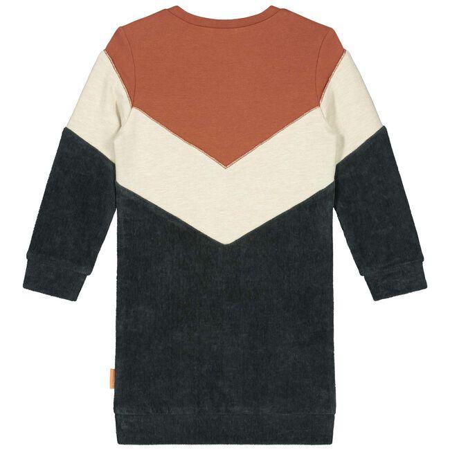 Prénatal baby meisjes jurk - Dark Orange Brown