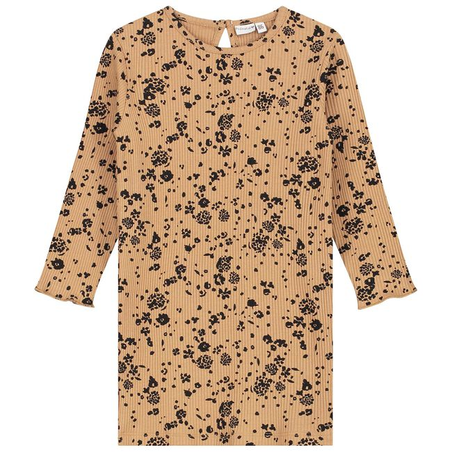 Prénatal peuter meisjes jurk - Light Taupe Brown
