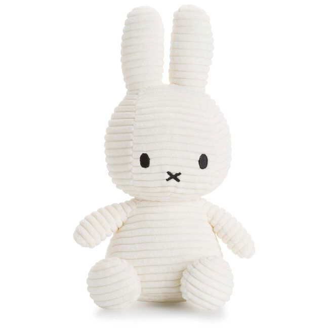 Nijntje knuffel corduroy 23cm - Off-White