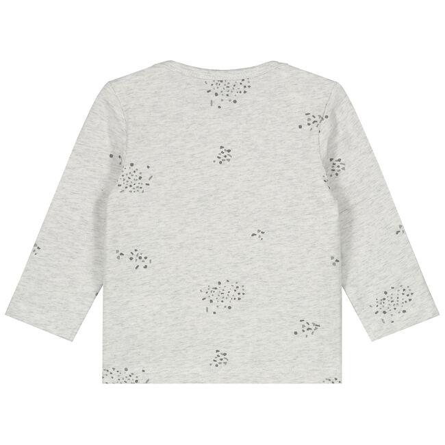Prénatal newborn unisex shirt met terrazzo print - Ecru Melange