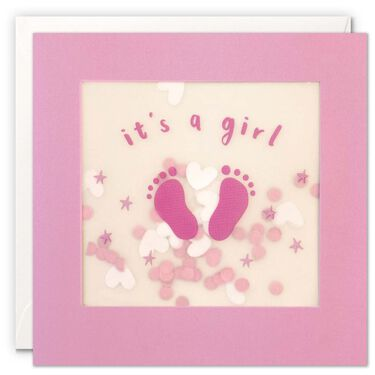 Shakies wenskaart It's a girl -