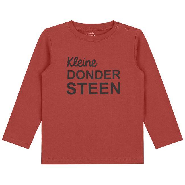 Prénatal baby jongens t-shirt - Dark Brown Red