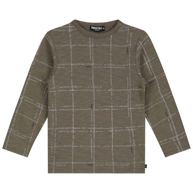 Sweet Petit peuter jongens t-shirt Luuk - Dark Taupe Brown
