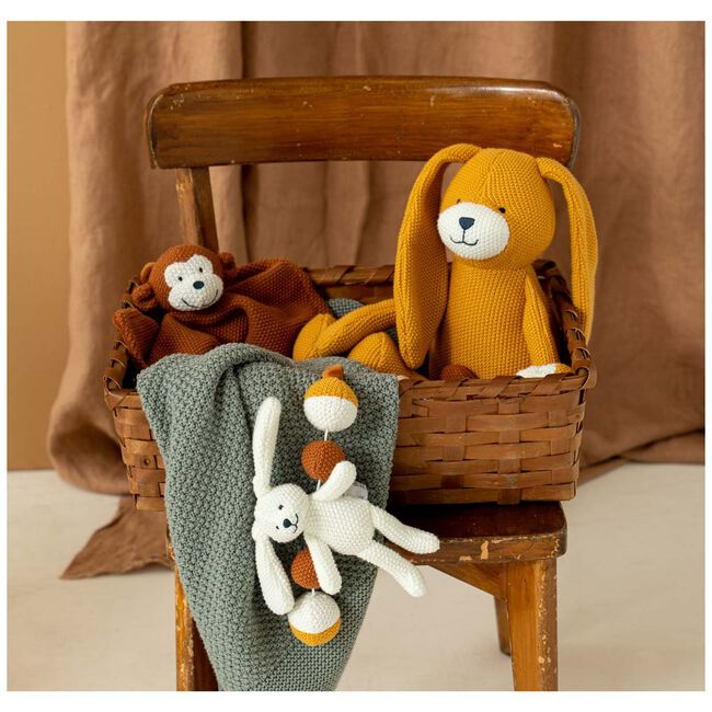 Prénatal knuffeldoekje aap little knits - Sienna