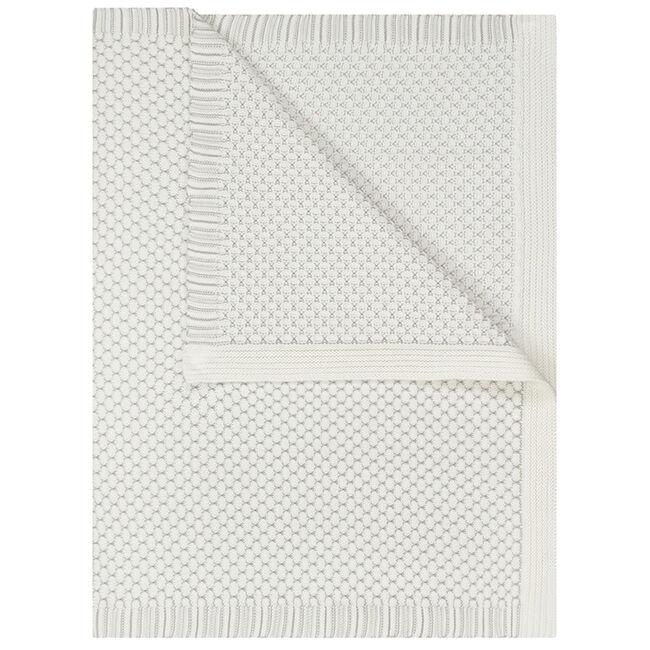Prénatal wiegdeken gebreid - White