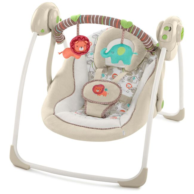 Ingenuity Soothe 'n Delight Portable Swing Cozy Kingdom - Taupebrown