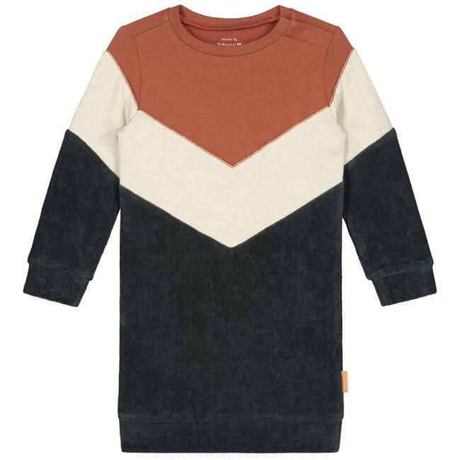 Prénatal peuter meisjes jurk - Dark Orange Brown