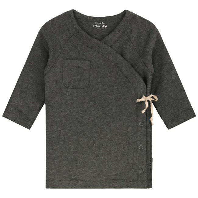 Prenatal newborn meisjes jurk - Deep Grey Melange