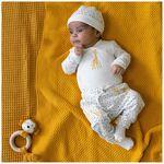 Prenatal newborn unisex broek - Ivoor Wit