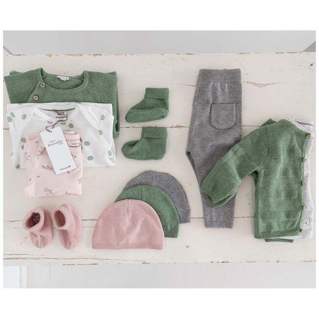 Prénatal newborn unisex broekje - Cloud Grey Melange