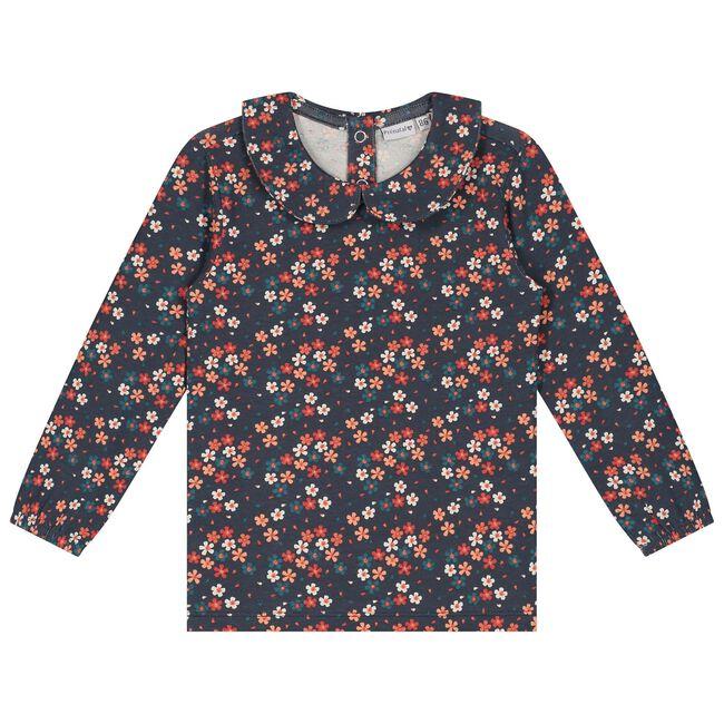 Prénatal peuter meisjes T-shirt - Dark Bluegrey