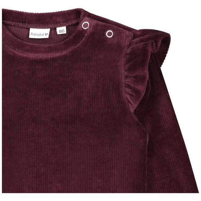 Prenatal peuter meisjes jurk - Dark Redshade