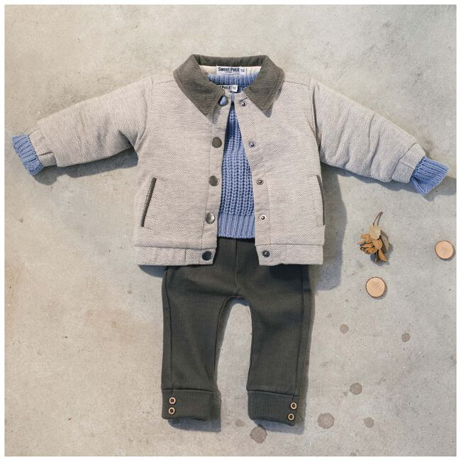Sweet Petit baby unisex legging Joss - Black/Brown
