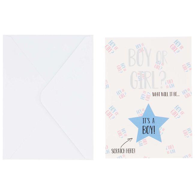 Prénatal kraskaart gender reveal - Blue