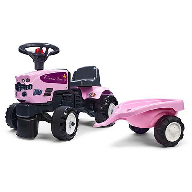 Falk 'Claas axos 310' looptractor incl. aanhanger - Pink