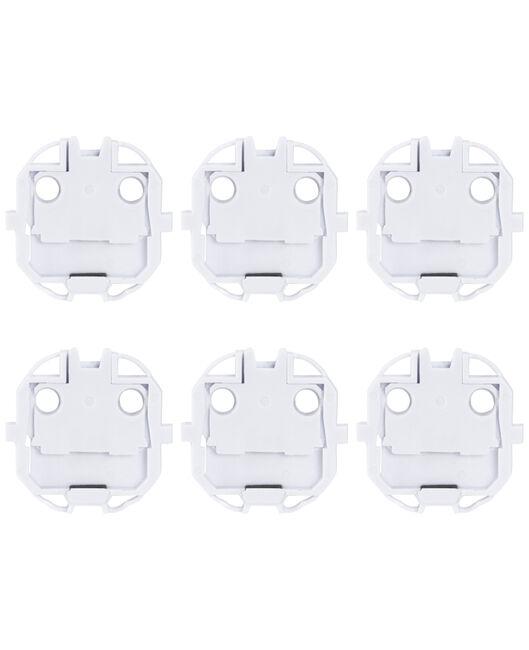 Prenatal stopcontactbeveiligers 6 stuks - White