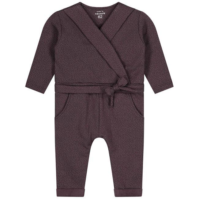 Prénatal baby meisjes jumpsuit - Dark Plum