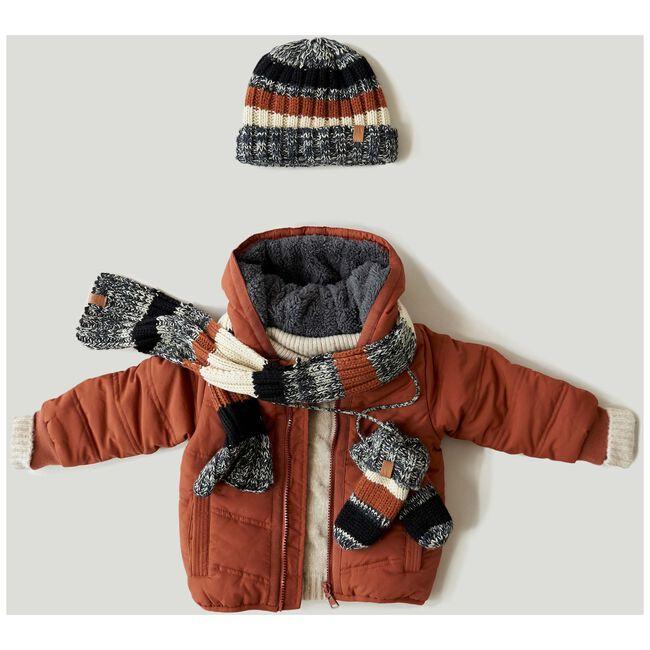 Prenatal peuter jongens winterjas - Chocolatbrown