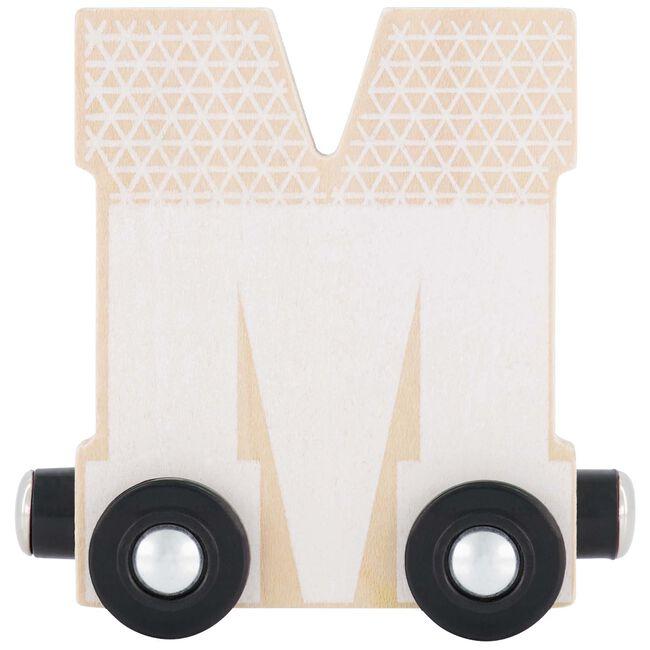Prénatal houten namentrein letter M - Wit