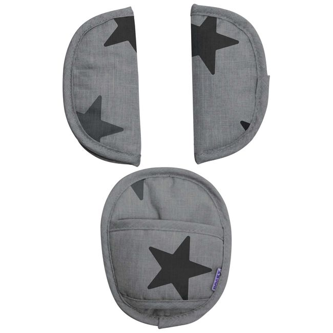 Dooky universele pads - Grey Stars
